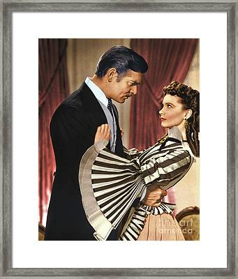Gone With The Wind - 1939 - Completely Retouched In Color Framed Print