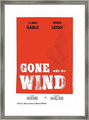 Gone With The Wind Alternative Classic Movie Framed Print by Raluca Mateescu