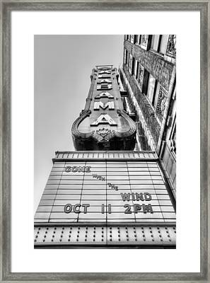 Gone With The Wind Black And White Framed Print by JC Findley