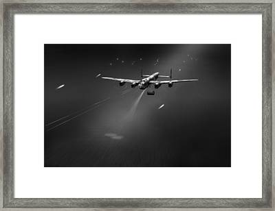Goner From Dambuster J-johnny Bw Version Framed Print by Gary Eason