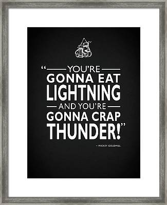Gonna Eat Lightning Framed Print by Mark Rogan