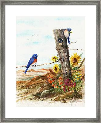 Gonna Find Me A Bluebird Framed Print by Marilyn Smith