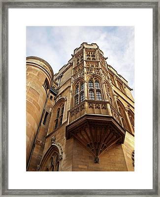 Gonville And Caius College Library Cambridge Framed Print by Gill Billington