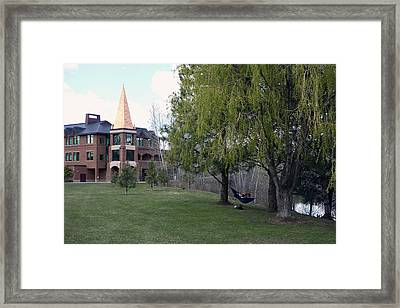 Gonzaga University Student Study Framed Print by Daniel Hagerman