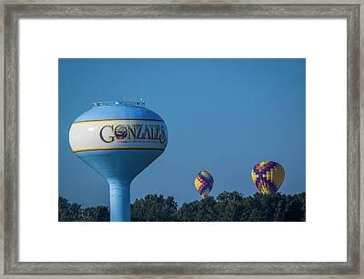 Gonzales Balloons Framed Print