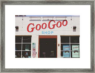 Goo Goo Shop- Photography By Linda Woods Framed Print by Linda Woods