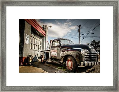Goober's Tow Truck Framed Print by Cynthia Wolfe