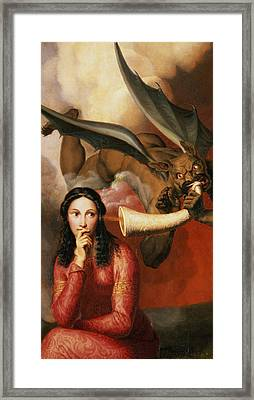 Good And Evil Framed Print by AJV Orsel
