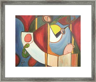 Good And Evil Framed Print by Suzanne  Marie Leclair