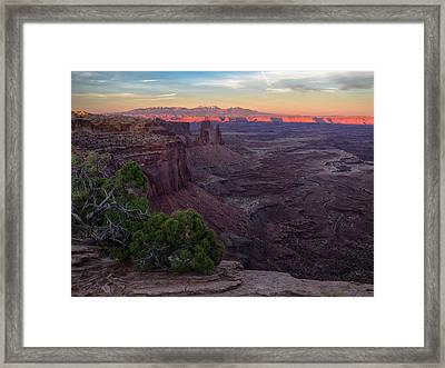 Good-by Kiss 2 Framed Print