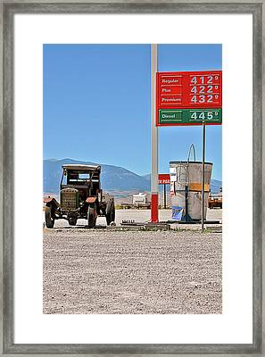 Good Bye Death Valley - The End Of The Desert Framed Print by Christine Till