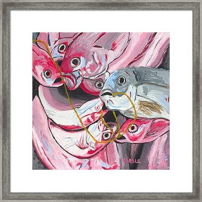 Good Catch Framed Print by Chelle Fazal