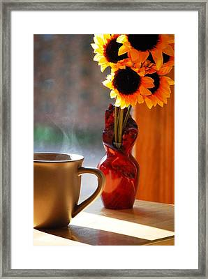 Good Day Brewing Framed Print by Peter  McIntosh