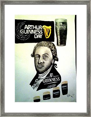 Good Day For A Guinness Framed Print by Pauline Murphy