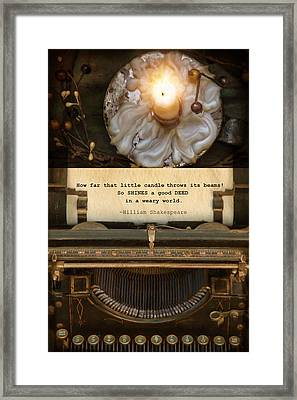Good Deeds Framed Print