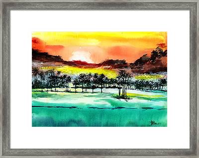 Good Evening 2 Framed Print by Anil Nene