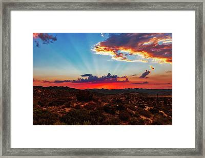Good Evening Arizona Framed Print