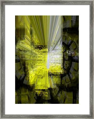 Framed Print featuring the digital art Good  Evil by Fania Simon