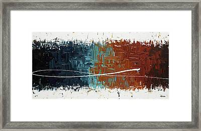 Framed Print featuring the painting Good Feeling - Abstract Art by Carmen Guedez