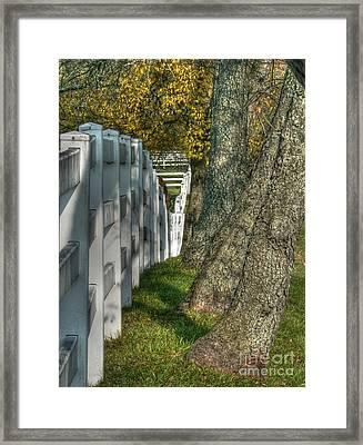 Good Fences... Framed Print by David Bearden
