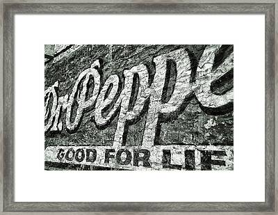 Good For Life Framed Print by Pair of Spades