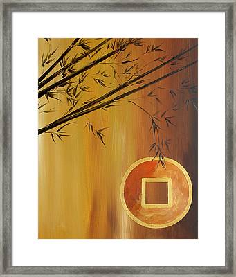 Framed Print featuring the painting Good Fortune Bamboo 2 by Dina Dargo