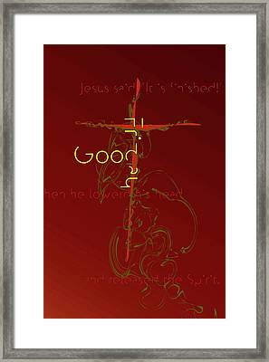 Framed Print featuring the digital art Good Friday by Chuck Mountain