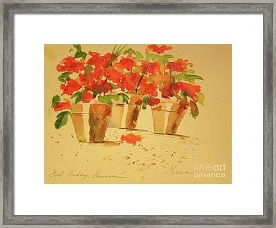 Good Friday Flowers Framed Print by Jill Morris