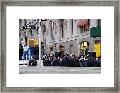 Framed Print featuring the photograph Good Friday On Trinity Place by Rob Hans