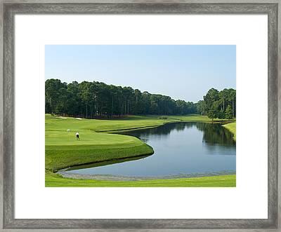 Good Golf Day Framed Print by Andrew Kazmierski