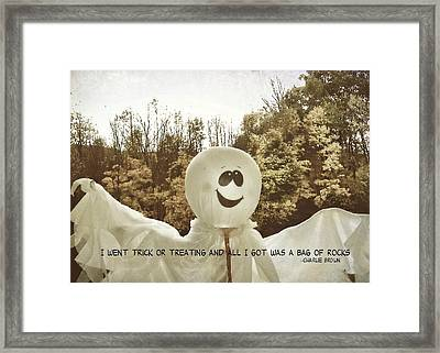 Good Grief Quote Framed Print by JAMART Photography