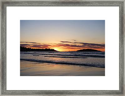 Good Harbor Beach At Sunrise Gloucester Ma Framed Print