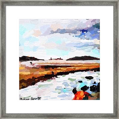 Good Harbor Beach, Salt Island, And Thatcher's Island Framed Print