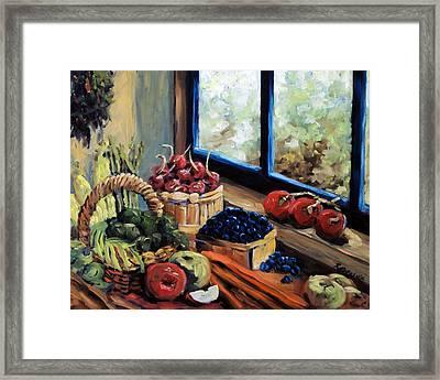 Good Harvest Framed Print by Richard T Pranke