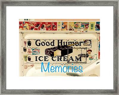Good Humor Ice Cream  Framed Print