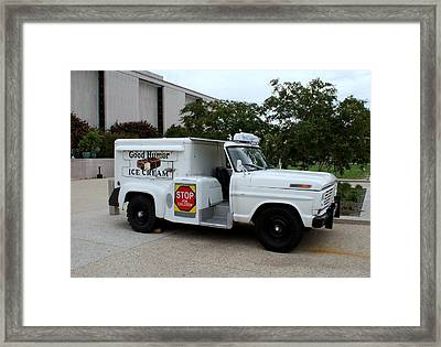 Good Humor Ice Cream Framed Print by Lois Lepisto
