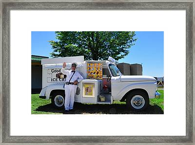 Good Humor Man Framed Print by Bill Cannon