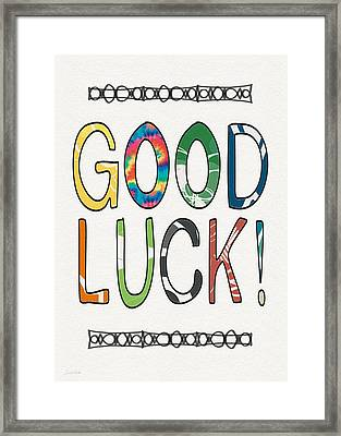 Good Luck Card- Art By Linda Woods Framed Print by Linda Woods