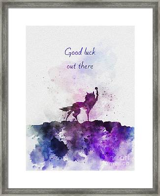 Good Luck Out There Framed Print by Rebecca Jenkins