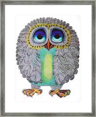 Good Luck Owl Framed Print