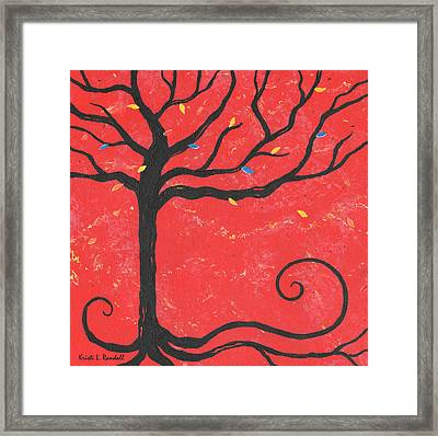 Good Luck Tree - Left Framed Print by Kristi L Randall