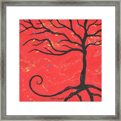 Good Luck Tree - Right Framed Print by Kristi L Randall