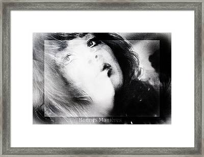 Good Manners Framed Print by Nicole Frischlich