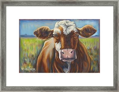 Good Mooing Framed Print by Nicole Fisher