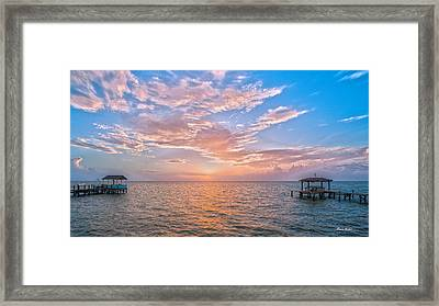 Good Morning Aransas Bay Framed Print