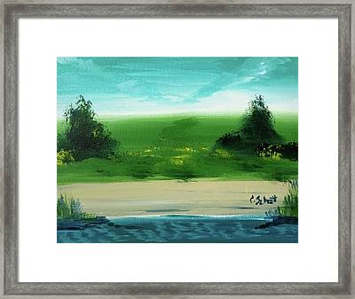 Good Morning Bay Framed Print