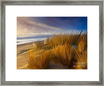 Good Morning Beach Day Framed Print