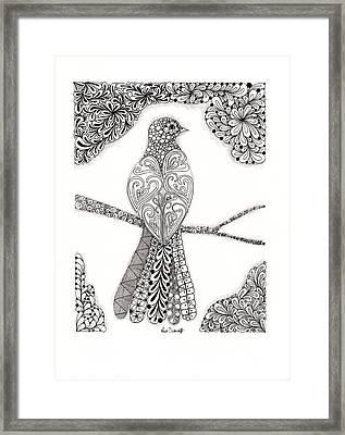 Good Morning Birdie Framed Print by Paula Dickerhoff
