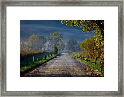 Good Morning Cades Cove 3 Framed Print