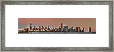 Good Morning Chicago Panorama Framed Print by Sebastian Musial